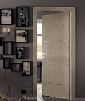Modern Wood Door Designs With Aluminum Strips