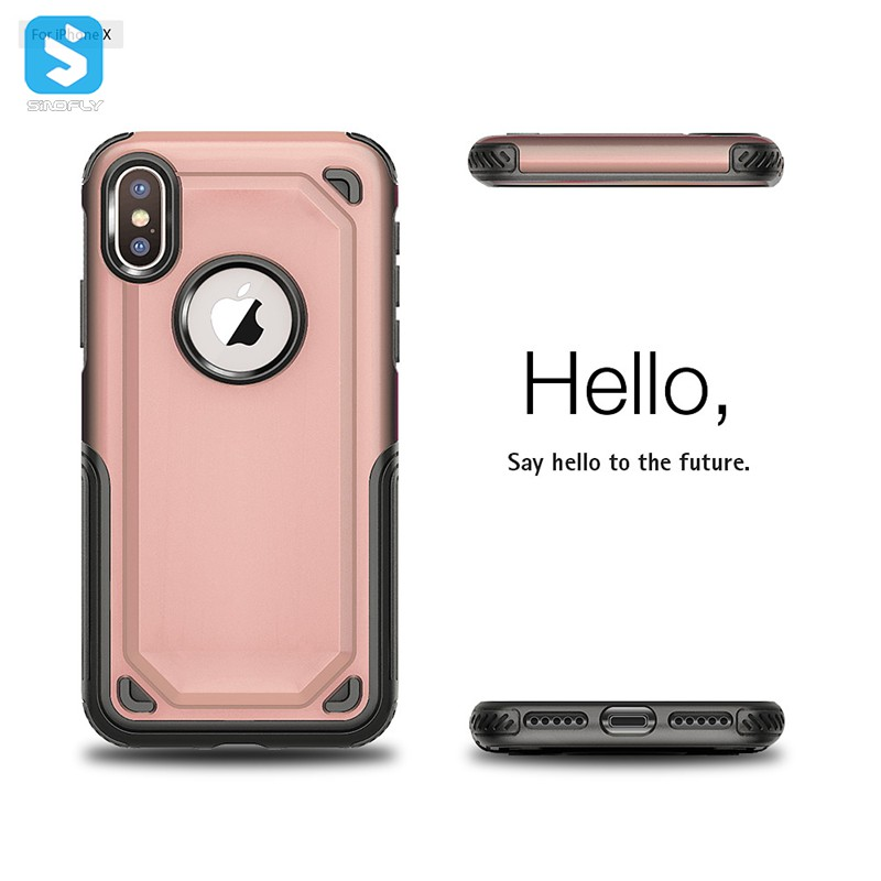 PC TPU Combo Case for iPhone X , for i phone x phone mobile case accessories
