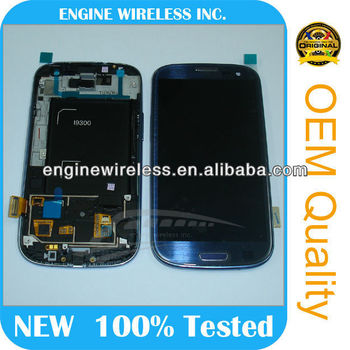 lcd screen touch digitizer assembly for samsung gt-i9300 lcd refurbish