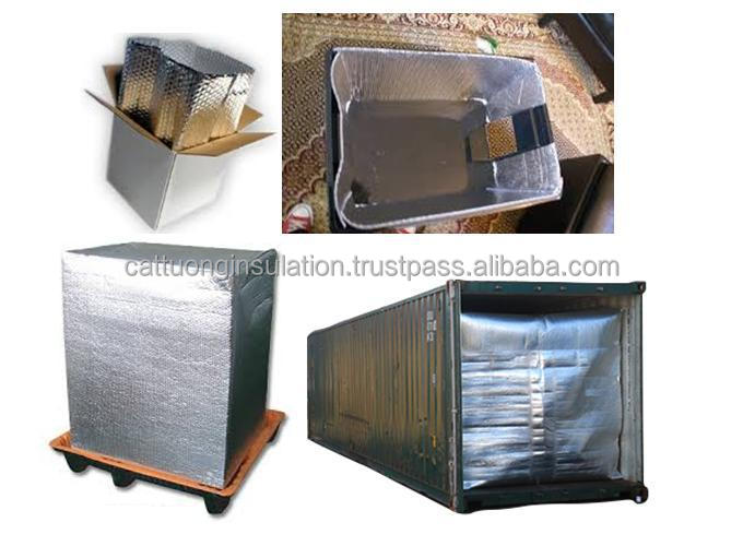 big bubble air layer with aluminum MPET foil for thermal insulation