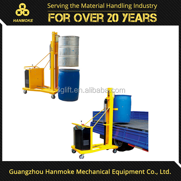 china hydraulic electric drum lifter280kg capacity electric drum lifter with 120mm/s lifting speed