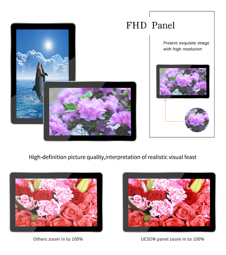 43 Inch Wall Mount Full Hd Android Besturingssysteem Cms Software Interactieve Monitor