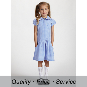 06dbc527f1b5 Su-k25 Primary School Girls Cotton Frocks Uniform Design - Buy ...