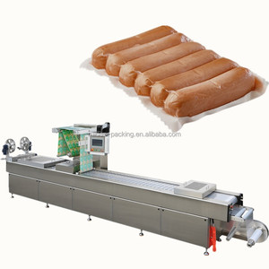 1 year guarantee automatic big flexible vacuum thermoforming packaging machine for sausage