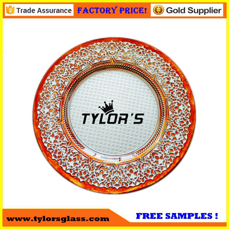 Factory Cheap Copper Wedding Charger <strong>Plates</strong> Wholesale