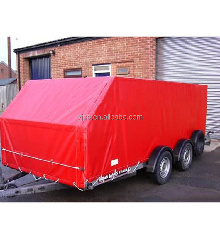 650g pvc tarpaulin trailer cover with brass grommet