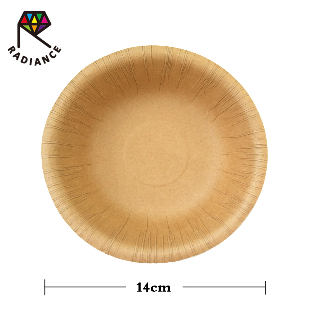 14cm Disposable Kraft Paper Bowl for party