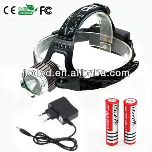 Cree Xml T6 Led Head Light Headlamp Rechargeable Headlight + ...