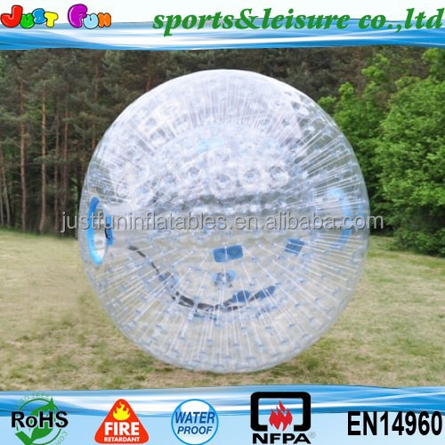 amazing body bubble ball, cheap grass inflatable body zorb ball, tpu inflatable human hamster ball for sale