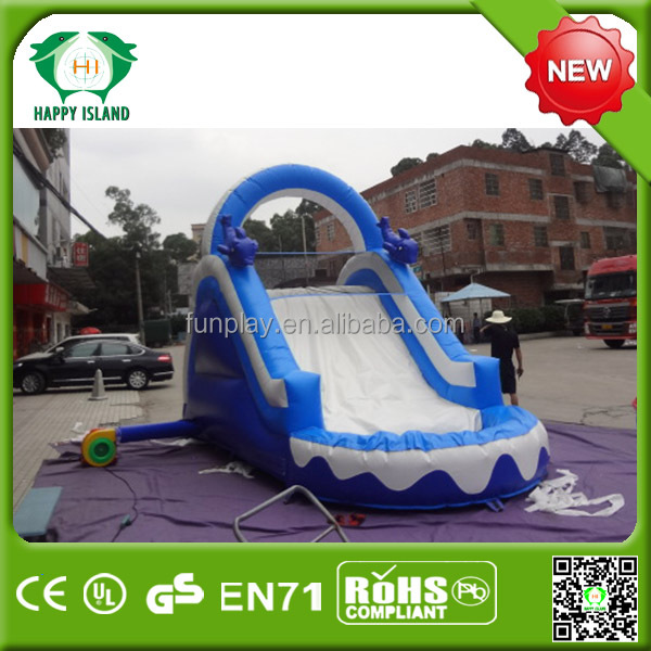 Summer top sale inflatable small dolphin water slide,small kids inflatables water slide, inflatable small water slide for kids