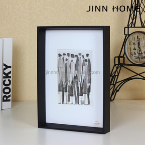 Nordic tune Wooden Photo Frame Northern Europe style Better Homes and Gardens Float Picture Frame Black Set
