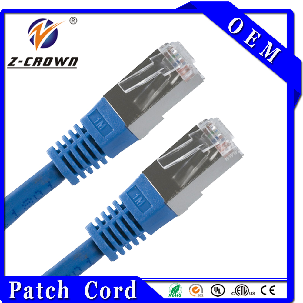 UTP/FTP/STP/SFTP Cat5e Cat6 RJ45 Cable Patch Lan Cable In China
