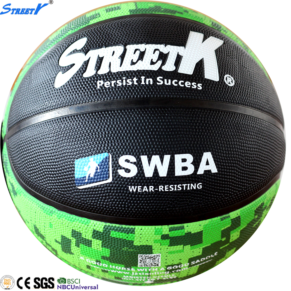 2016 streetk wholesale official customized basketball size rubber basketball