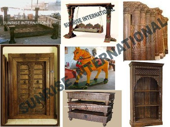 Indian Antique Wooden Handicrafts Furniture Jodhpur Wood