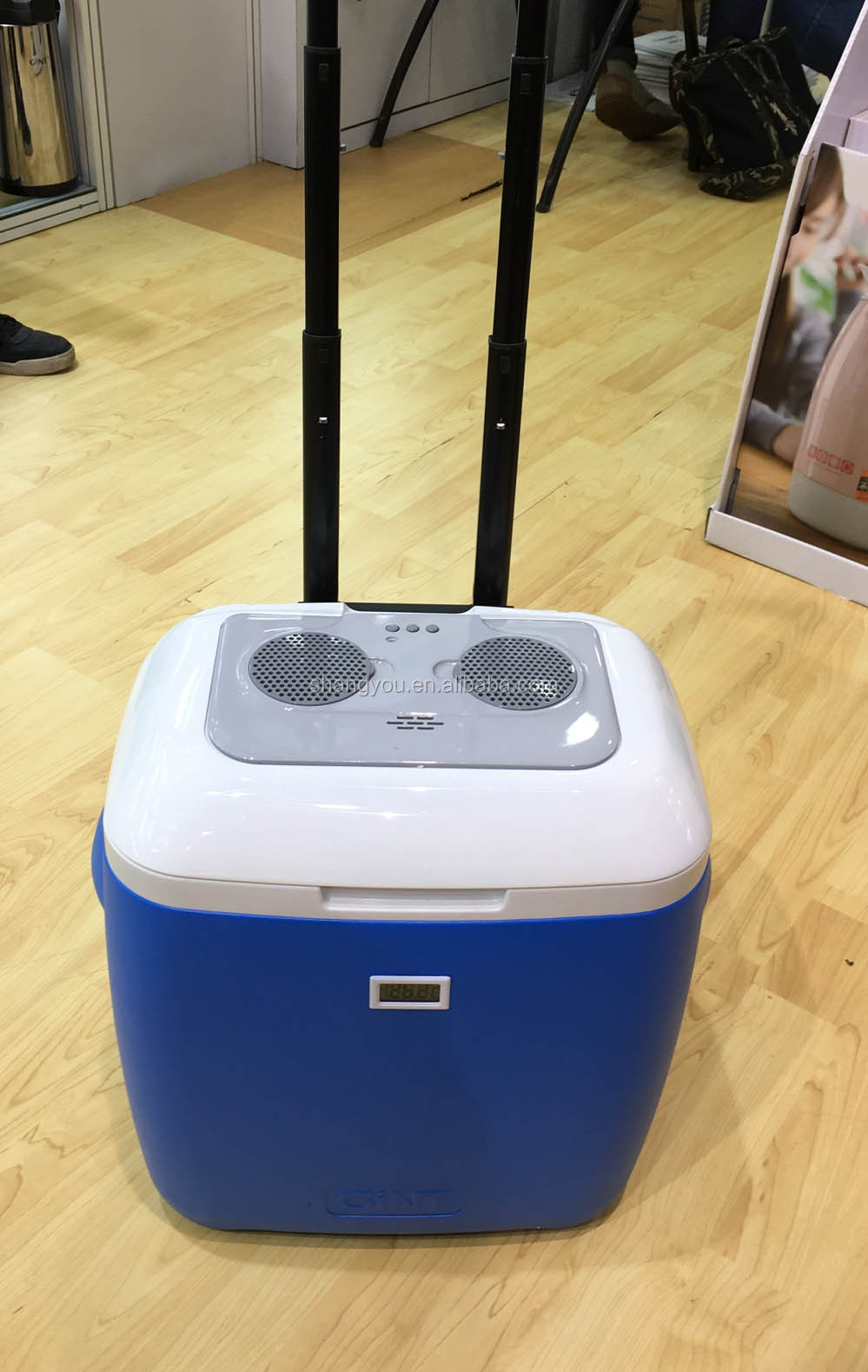 18L wheeled cooler box with bluetooth speaker