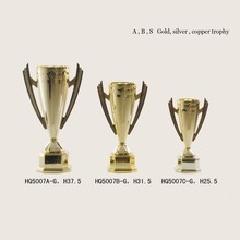 Wholesale gold silver copper plated awards trophies customized plastic sports trophy cup