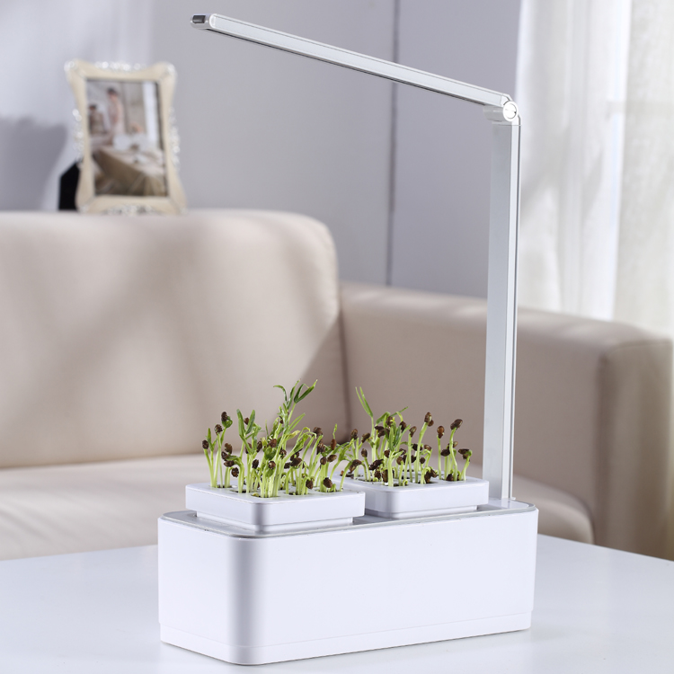Led Light Smart Indoor Garden Plant Support 2018 New Arrival ABS Garden Products