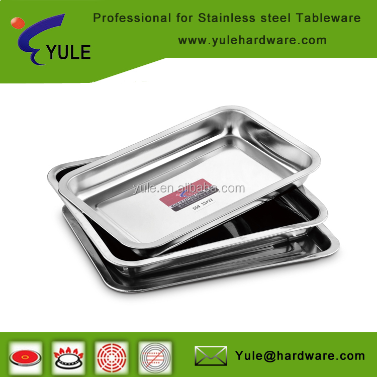 Cheap price wholesale stainless steel 410 BBQ serving trays
