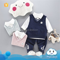 AS-387B school uniform design alibaba express usa 3pcs kids western wear stylish kids clothes for children