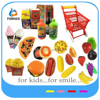 Plastic Supermarket Cart Toy Set