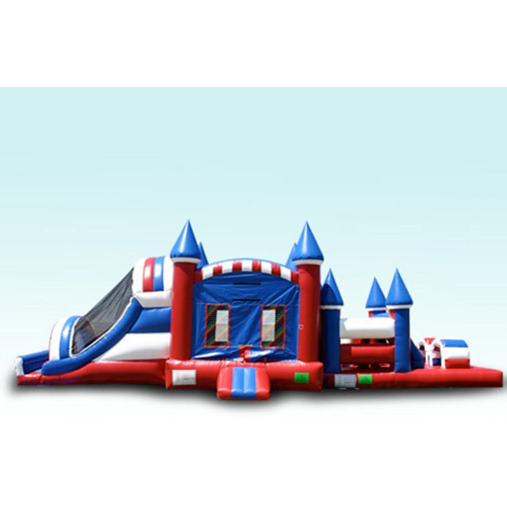 EZ Inflatables 44 ft. USA Obstacle Course Bounce House