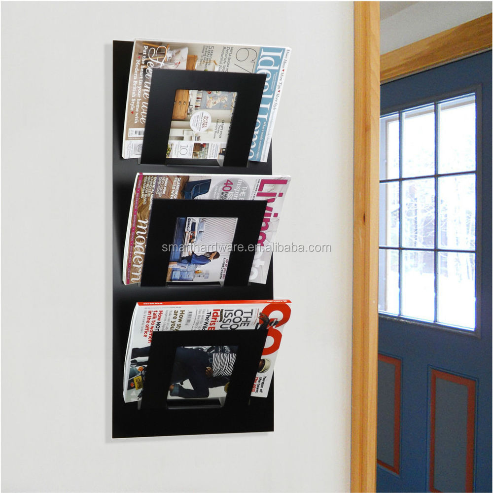Superior Office Wall Hanging Metal Magazine Rack