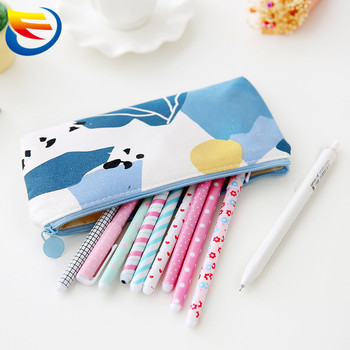 2017 Hot selling customized canvas pencil bag canvas pencil case canvas case