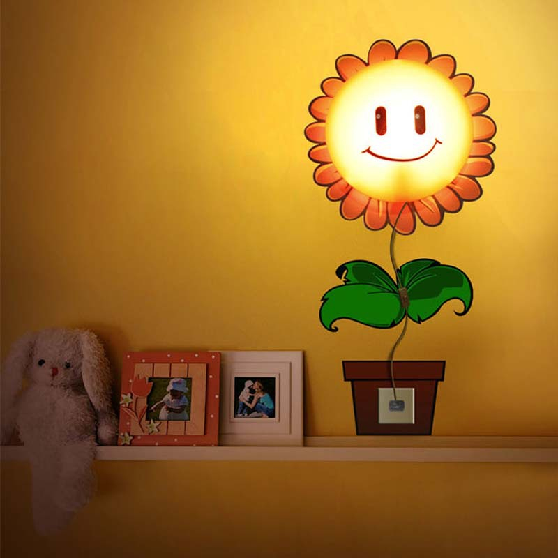 Wall LED Lamp Nightlight With Cartoon 3D Wallpaper For