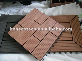 Terrazzo wpc tetto ad incastro piastrelle ponte fai da te legno