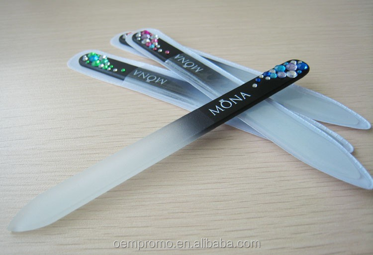 Personalized Colorful and Luxury Crystal Glass Nail File