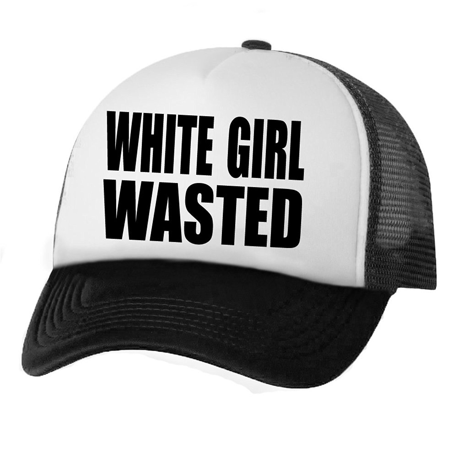 Get Quotations · White Girl Wasted Truckers Mesh snapback hat c730eeacfbab