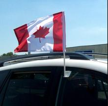 HOT China Factory Car Window Flag Holders with Mini Canada Flag