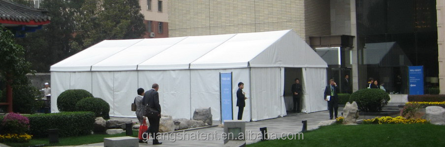 temporary giant tent halls for news conference