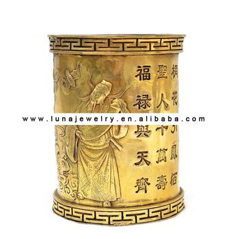 Brass Fuk Luk Sau Pencil Vase Buy Fuk Luk Sau Pencil Vasechinese