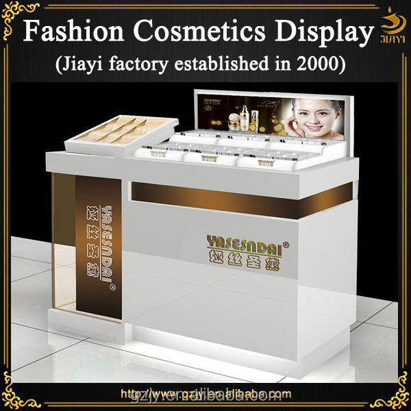Perfume Tester Display: Modern Cosmetics Display Stand With Tester Area Counter Top Display