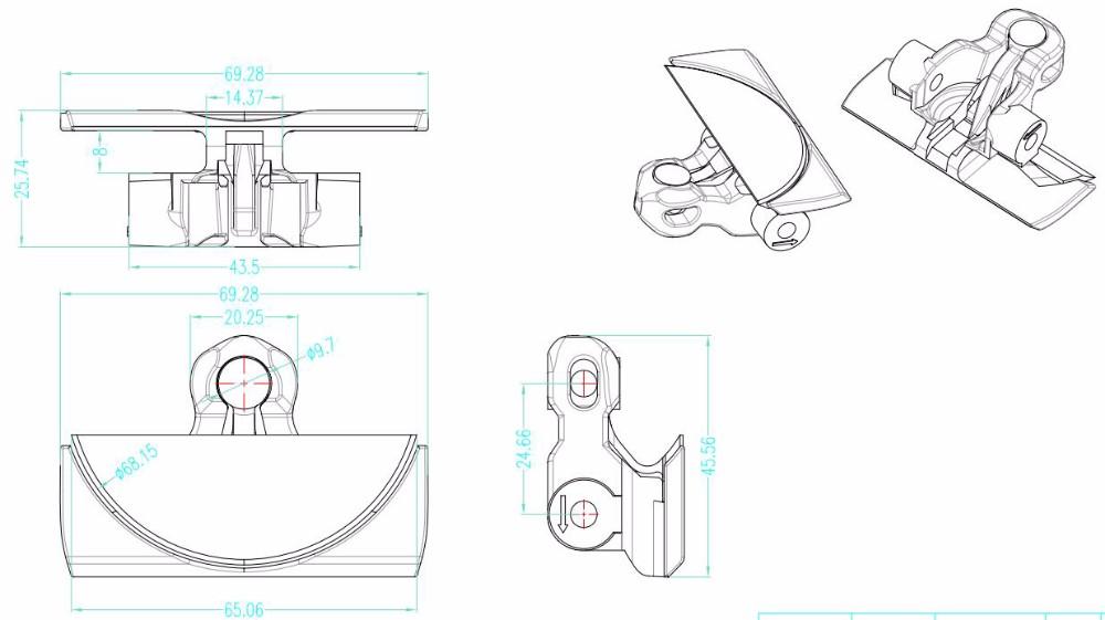 cadena transportadora flexible de mesa plana 1775 correa flexible de raspado Transportador Multiflex POM para transmisión de leche Cadena de separación cero