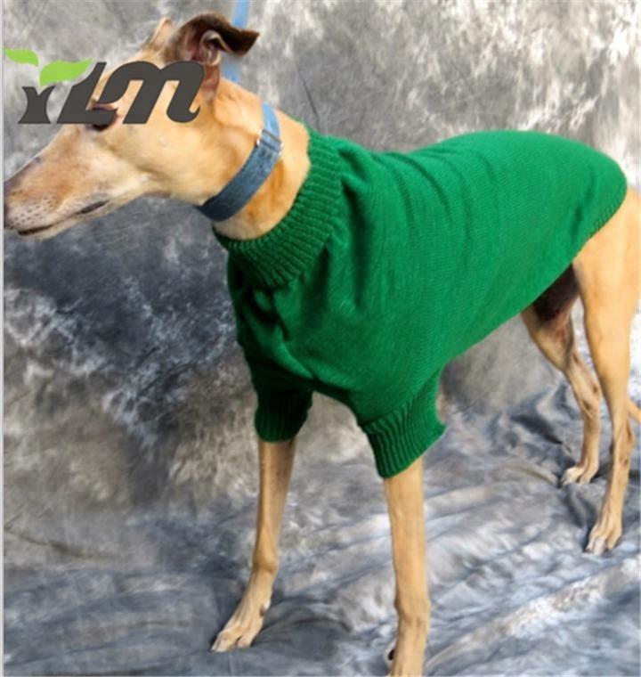 YLM custom design handgefertigte Italienische pet grüne stricken pullover Windhund häkeln Kleidung Italienischen Windhund acryl kabel pyjamas