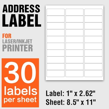 top quality letter size 85 x 11a4 address labelslabel sticker
