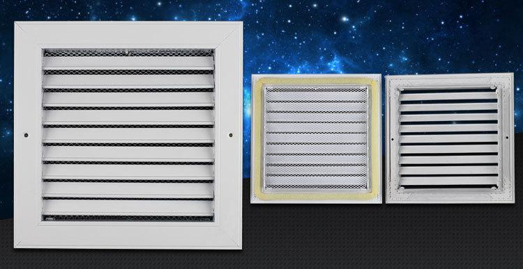 Aluminum Antique Ventilation Air Door Grille Air Vent For Aluminum Kitchen  Cabinet