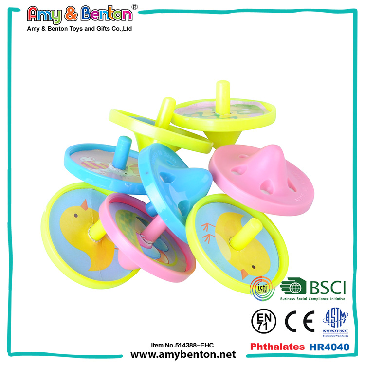 Hot Selling plastic children toy spin wheel top games