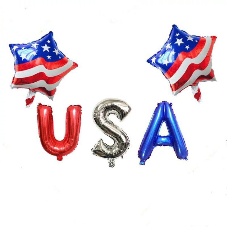 """Balloons 18/"""" Happy 4th of July Patriotic Mylar Foil Party Decorations"""