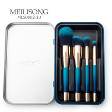 China supplier professional cosmetic private label 4pcs makeup brush set wholesale with iron box