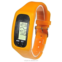 New digital watch silicone wearable pedometer