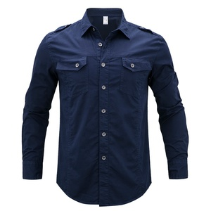 Large Size Air Force No.1 Latest Long Sleeve Casual Shirt Designs for Mens