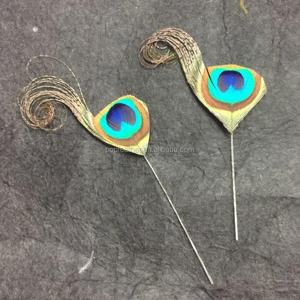 decoracin de plumas pm irregular rizada pluma de pavo real naturales