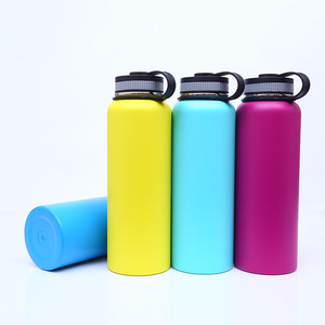Aluminum/Stainless Steel Water Bottle Wide Mouth Lids (40oz, 32oz, 22oz, 18oz) Keeps Liquids Perfectly Hot or Cold
