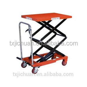 Low hydraulic scissor goods lift table/mini scissor lift platform