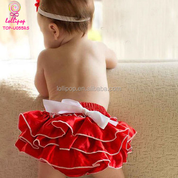 71d11846be Xmas Holiday Red Satin Petti Ruffle Diaper Cover Bloomer Christmas Baby  Girls Bloomers With White Bow - Buy Christmas Baby Bloomer