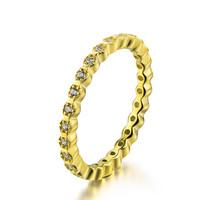 Fashion new trendy China jewelry wholesale cz ring type women 14k gold rings china