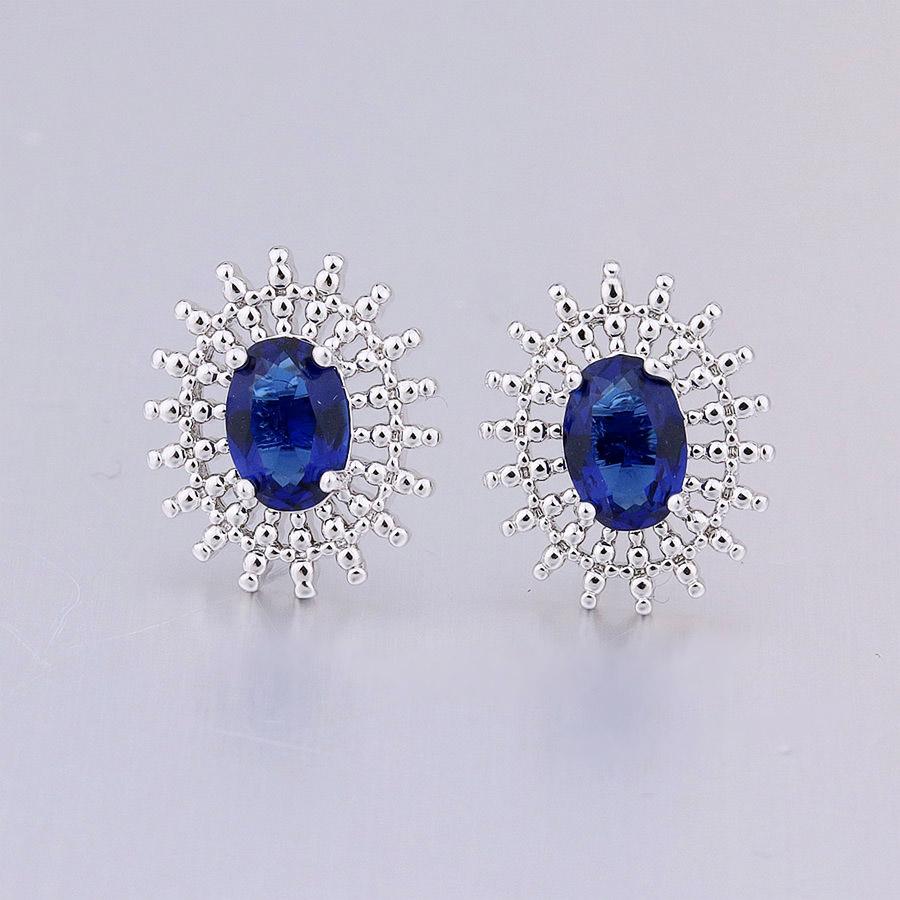 Boucles d'oreilles bleues marine